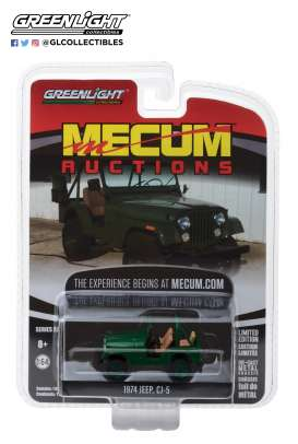 Jeep  - CJ-5 1974 green - 1:64 - GreenLight - 37140D - gl37140D | Tom's Modelauto's