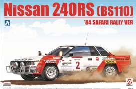 Nissan  - 240RS BS110 1984 white/orange - 1:24 - Beemax - bmx24014 | Tom's Modelauto's
