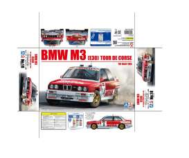 Beemax - BMW  - bmx24016 : 1/24 1988 BMW M3 E30 #9 Tour de Corse rally 4th place Francois Chatriot/Michel Perin, plastic modelkit
