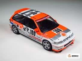 Honda  - EF9 Civic Gr.A *Motion* 1992 red/white - 1:24 - Beemax - 24018 - bmx24018 | Tom's Modelauto's
