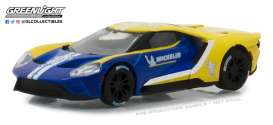 Ford  - GT 2017 blue/yellow - 1:64 - GreenLight - 29945 - gl29945 | Tom's Modelauto's