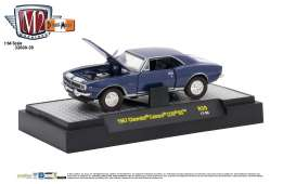 M2 Machines - Chevrolet  - M2-32600-39A : 1967 Chevrolet Camaro Z/28 RS New Casting *Detroit-Muscle release 39*, deepwater blue metallic w/white stripes