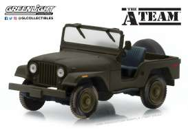 Jeep  - CJ-5 *A Team* green - 1:43 - GreenLight - 86526 - gl86526 | Tom's Modelauto's