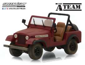Jeep  - CJ-7 *A Team*  - 1:43 - GreenLight - 86528 - gl86528 | Tom's Modelauto's