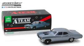Chevrolet  - Impala Sport Sedan 1967 blue-grey - 1:18 - GreenLight - 19047 - gl19047 | Tom's Modelauto's