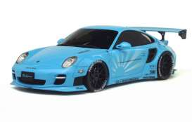 GT Spirit - Porsche LB Works - GTKJ011 : LB Works 997 Turbo *resin series* Limited Edition made for Kyosho, baby blue