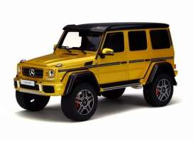 GT Spirit - Mercedes  - GTKJ013 : Mercedes Benz G500 4x4 *resin series* Limited Edition made for Kyosho, solarbeam yellow/black
