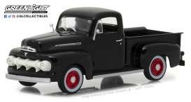 Ford  - F-1 1951 raven black - 1:43 - GreenLight - 86315 - gl86315 | Tom's Modelauto's