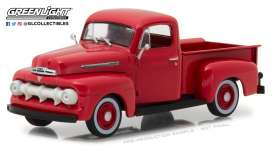 Ford  - F-1 1951 coral flame - 1:43 - GreenLight - 86316 - gl86316 | Tom's Modelauto's