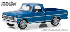 Ford  - F-series Truck 1979 dark blue poly - 1:43 - GreenLight - 86317 - gl86317 | Tom's Modelauto's