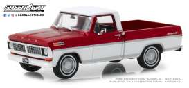 Ford  - F-series Truck 1979 bright red and white - 1:43 - GreenLight - 86318 - gl86318 | Tom's Modelauto's