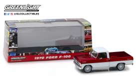 Ford  - F-series Truck 1979 bright red and white - 1:43 - GreenLight - 86318 - gl86318 | Toms Modelautos