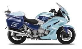 Maisto - Yamaha  - mai32306-04 : 1/18 Yamaha FJR 1300A State Police Authority, light blue