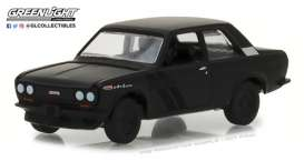 Datsun  - 510 1968 black - 1:64 - GreenLight - gl27950A | Tom's Modelauto's