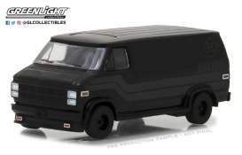 GMC  - Vandura 1980 black - 1:64 - GreenLight - 27950C - gl27950C | Tom's Modelauto's