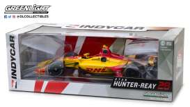 Honda  - Indy car #28 2018 yellow/red - 1:18 - GreenLight - 11022 - gl11022 | Tom's Modelauto's