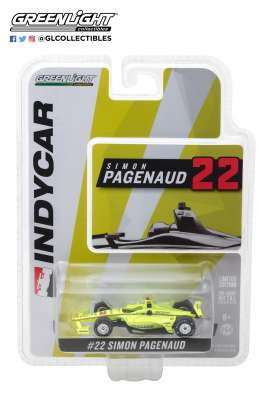 Chevrolet  - Indy car #22 2018 yellow - 1:64 - GreenLight - gl10809 | Tom's Modelauto's