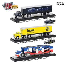 M2 Machines - Assortment/ Mix  - m2-36000-27~3 : 1/64 Auto Haulers series 27, assortment of 3 pieces