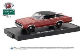 Dodge  - 1966 red metallic w/black vinyl top - 1:64 - M2 Machines - M2-11228-47A | Tom's Modelauto's