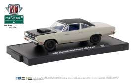 M2 Machines - Plymouth  - M2-11228-47D : 1969 Plymouth Road Runner 440 6-Pack *M2 Drivers Release 47*, silver metallic w/semi-gloss black hood