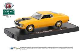 M2 Machines - Ford  - M2-11228-47F : 1970 Ford Mustang 428 SC-J *M2 Drivers Release 47*, grabber orange w/semi-gloss black stripes