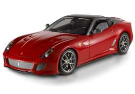 Hotwheels Elite - Ferrari  - hwmvT6925*2 : 2010 Ferrari 599 GTO 12 cylinder, red with a grey roof