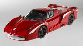 Hotwheels - Ferrari  - hwmvT6247*1 : From Enzo to FXX to FXX Evo 2009, Ferrari again upgraded the most powerful sports car in Maranello. The FXX Evo is not sanctioned for road use or competition. It is designed exclusively for track driving as part of a specific R&D program developed with a select group of just over 20 clients, involving 14 group test sessions and 14 private sessions. The new Evolution Package represents the culmination of all the test data and input provided by the program over the past two years, as well as the support of Michael Schumacher. The FXX evolution package includes participation in a series of track events (two in North America, two in Europe and two in Asia), red/white