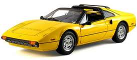 Hotwheels Elite - Ferrari  - hwmvp9898*2 : 1977 Ferrari 308 GTS V8, yellow with black interior