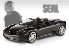 Hotwheels Elite - Ferrari  - hwmvT6928*3 : 2008 Ferrari 430 Spyder owned by Seal *Music Collection*, black
