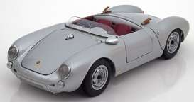Schuco - Porsche  - schuco02100412*3 : Porsche 550 spyder Exclusive series with great details and made from the best materials, silver