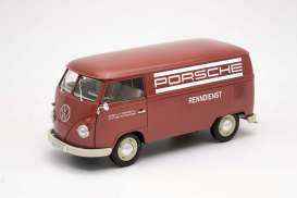 Volkswagen  - 1963 red/white - 1:18 - Welly - welly18053TDR | Tom's Modelauto's