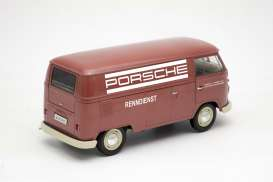 Volkswagen  - T1 Panel Van 1963 red/white - 1:18 - Welly - 18053TDR - welly18053TDR | Tom's Modelauto's
