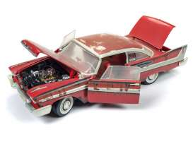 Plymouth  - 1958 red/rust - 1:18 - Auto World - AWSS119 | Tom's Modelauto's