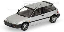 Honda  - Civic 1990 silver - 1:43 - Minichamps - 400161500 - mc400161500 | Tom's Modelauto's