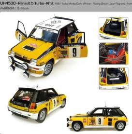 Renault  - 1981 yellow/white/black - 1:18 - Universal Hobbies - UH4530 | Tom's Modelauto's