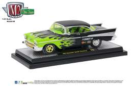 Chevrolet  - 1957 black/green flames - 1:24 - M2 Machines - M2-40300-59B | Tom's Modelauto's