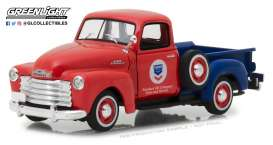 Chevrolet  - 3100 pick-up 1953 red/blue - 1:43 - GreenLight - 87010B - gl87010B | Tom's Modelauto's