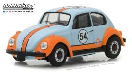 Volkswagen  - Beetle 1966 light blue/ orange - 1:43 - GreenLight - 87010D - gl87010D | Tom's Modelauto's
