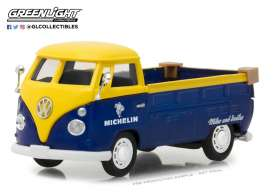 Volkswagen  - T2 pick-up yellow/blue - 1:43 - GreenLight - gl87010E | Tom's Modelauto's