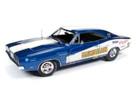 Dodge  - 1969 blue/white - 1:18 - Auto World - 231 - AW231 | Tom's Modelauto's