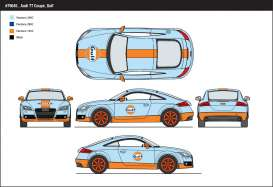 Audi  - 2015 light blue/orange - 1:24 - Motor Max - mmax79645 | Tom's Modelauto's