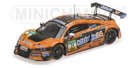 Audi  - R8 LMS 2017 orange/black - 1:43 - Minichamps - 437171724  - mc437171724  | Tom's Modelauto's