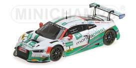 Audi  - R8 LMS 2017 white/green - 1:43 - Minichamps - 437171701  - mc437171701  | Toms Modelautos