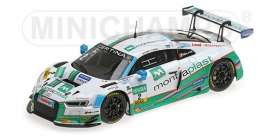 Audi  - R8 LMS 2017 white/green - 1:43 - Minichamps - mc437171702 | Tom's Modelauto's