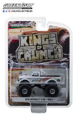 Chevrolet  - K-10 Monster Truck 1970 white - 1:64 - GreenLight - 49010B - gl49010B | Tom's Modelauto's