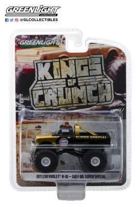 Chevrolet  - K-10 Monster Truck 1971 gold/black - 1:64 - GreenLight - 49010D - gl49010D | Tom's Modelauto's