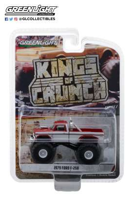 Ford  - F-250 Monster Truck 1979 maroon/white - 1:64 - GreenLight - 49010E - gl49010E | Tom's Modelauto's