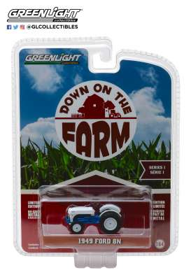 Ford  - 8N Tractor 1949 white/blue - 1:64 - GreenLight - 48010B - gl48010B | Tom's Modelauto's
