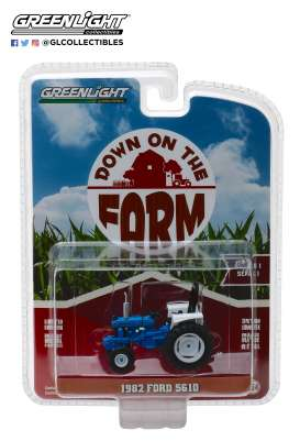 Ford  - 5610 Tractor 1982 blue/black - 1:64 - GreenLight - 48010C - gl48010C | Tom's Modelauto's