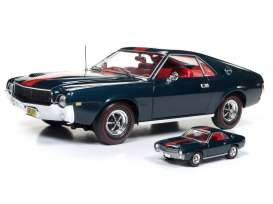 AMC  - AMX 1968 blazer blue/red - 1:18 - Auto World - AMM1124 | Tom's Modelauto's